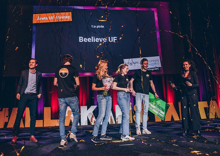 Vinnare Årets UF-företag 2020 UF Göteborg