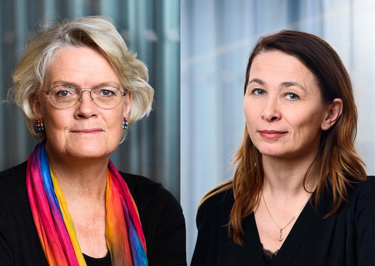 Carola Lemne och Cecilia Nykvist