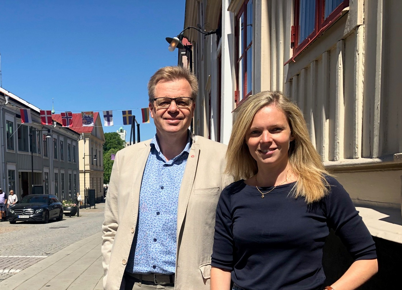 Per-Ola Mattsson, kommunalråd i Karlshamn kommun och Jennifer Stenfelt